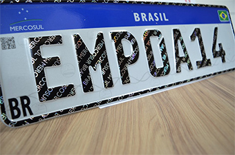 Estampadores placa Mercosul
